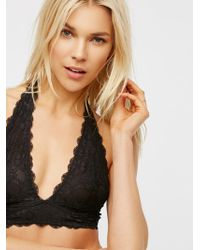 Free People - Galloon Lace Halter Bra - Lyst