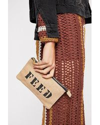 Free People Feed 10 Burlap Pouch - Blue