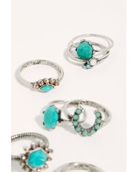 Free People - Mix It Up Ring Set - Lyst