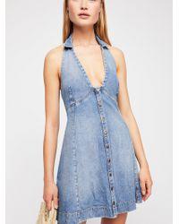 Free People - Rizzo Mini Dress - Lyst