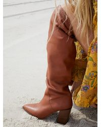 Free People Riley Tall Slouch Boots - Brown