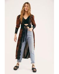 Free People Dust Her Dressing Gown By Hah - Multicolour