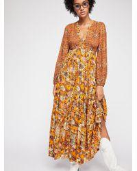 Free People - Dove Long Sleeve Maxi Dress - Lyst