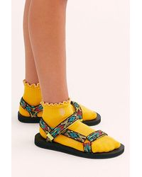Fp Movement Ruffle Sport Socks - Yellow