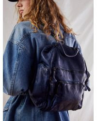 Free People Bolsa Nova Mia Backpack - Blue