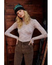 Free People - Space Dye Turtleneck By Fp Movement - Lyst