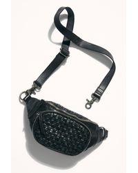 Free People Heidi Woven Belt Bag - Black