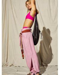 Free People Big Chill Pants - Pink