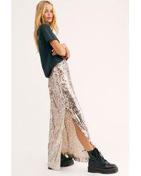 Free People Sea Shell Sequin Maxi Skirt - Multicolour