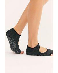 ToeSox Bella Merci Ruffle Grip Socks - Black