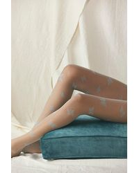 Free People Butterfly Wonderland Sheer Tights - Natural