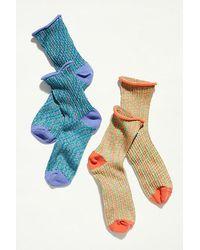 Hansel From Basel Mood Space Dye Short Crew Socks - Multicolour