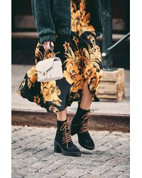 Free People Dylan Lace-up Boots By Fp Collection - Black