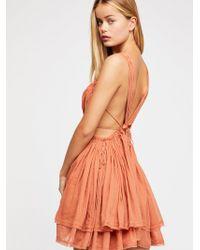 Free People - Hot Hot Hot Mini Dress - Lyst