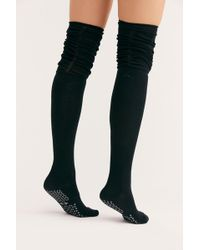9e8da65f119 Free People - Charlie Ruched Over-the-knee Socks By Tavi Noir - Lyst