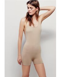 38b94e73c36 Free People - Low Back Seamless Playsuit By Intimately - Lyst