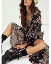Free People Prairie Punk Shirtdress - Black