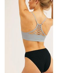 Intimately Baby Racerback By At Free People, Blue Grey, M/l