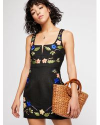 Free People - Mind Games Mini Dress - Lyst