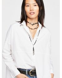 Free People - Ranchero Leather Necklace - Lyst