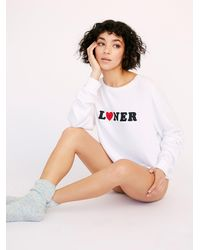 Free People Baggy Beach Jumper By Wildfox - White