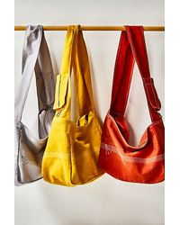 Free People Waxed Canvas Sling - Yellow