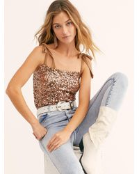 Free People - Hey Girl Sequin Cami - Lyst