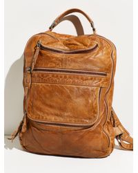 Free People East End Leather Backpack - Brown