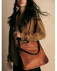 Free People We The Free Saratoga Leather Satchel - Brown