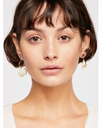 Free People - Mixed Shell Earrings - Lyst