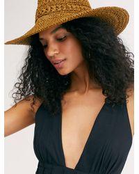Free People Summer Lovin Straw Hat - Brown