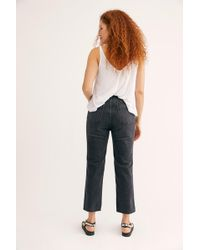 Free People Crvy High-rise Vintage Straight Jeans By We The Free - Blue