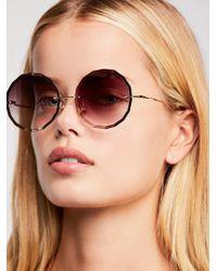 Free People - Glam Girl Oversized Sunglasses - Lyst