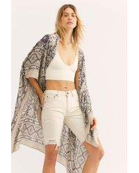 Free People Magic Dance Border Print Kimono - Multicolor