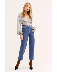 Free People Levi's Ribcage Jeans - Blue