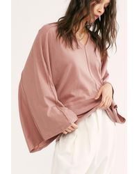Free People Arms Wide Open Top By Fp Beach - Pink