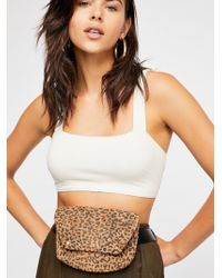 Free People Cecile Leopard Belt Bag - Brown