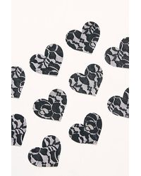 Free People Heart Shaped Pasties By Silicone Valley - Black