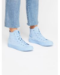 Free People - Suede Mono High Top Chuck - Lyst