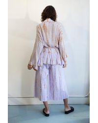Free People Daydream Tie Dye Culotte Trousers - Purple