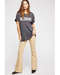 Free People Penny Pull-on Flare Jeans - Green