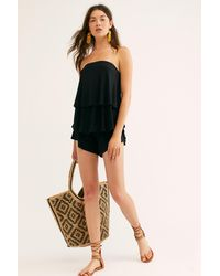 Free People Sunsational Co-ord By Fp Beach - Black