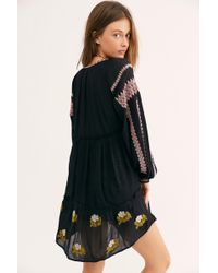 4436aaa752bb0 Free People - Wild Horses Embroidered Mini Dress - Lyst