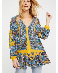 Free People   Lovely Dreams Print Tunic   Lyst