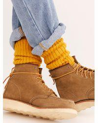 Free People Numero Uno Crew Sock By Wigwam - Metallic
