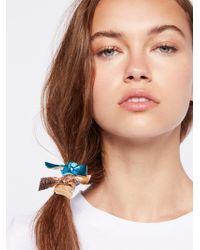 Free People - Metallic Bow Hair Ties - Lyst