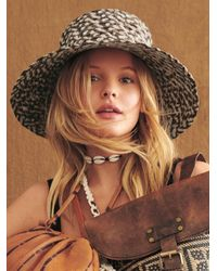 Free People Grotto Straw Bucket Hat - Multicolour