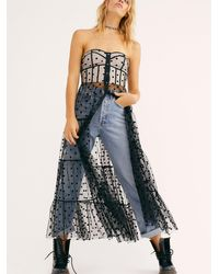 Free People All Through The Night Maxi Top - Black