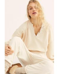 Free People Runyon Pullover By Fp Beach - Natural