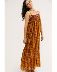 Free People On My Own Printed Maxi Slip By Intimately - Multicolor